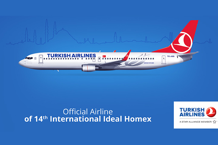 Visitors to 14th International Ideal Homex can benefit from special fares with Turkish Airlines
